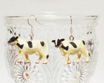 Holstein earrings