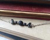 Chevron Hematite and Lava Rock Essential Oil Diffuser Necklace