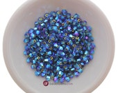 Denim Blue AB2X (3mm - 4mm) Swarovski Crystal 5328 XILION Bicones