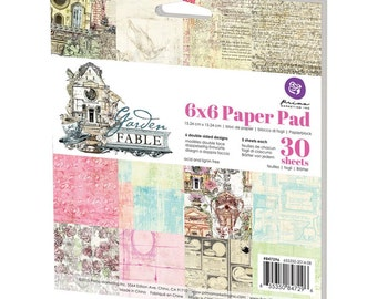 """Prima Marketing Double-Sided Paper Pad 6""""X6"""" 30/Pkg Garden Fable, 5 Each Of 6 Designs"""