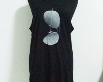 Sunglass tank top large size L singlet sleeveless shirt