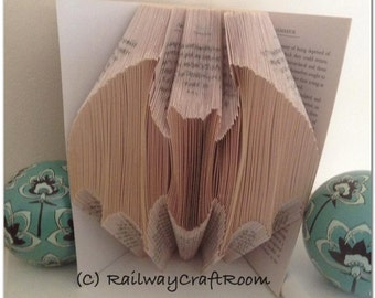 Book folding pattern Bat (2)
