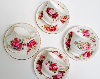 Vintage High Teaset Romantic Summer Rose