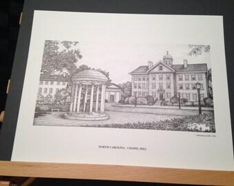North Carolina Chapel Hill Old Well 11x14 print