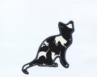 Cat Applique Embroidery File for 4x4 and 5x7 hoops
