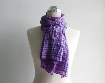 Painted pleats silk - violet shade, 14