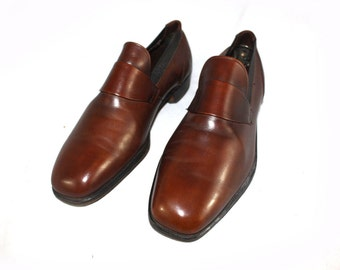 Vintage Men's shoes 1970's Taut Topper Wright Arch Preserver Brown Leather Loafer 10D