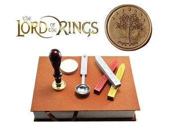 Lord of the Rings - White Tree of  Gondor Seal - Wax Stamp Gift Set / Kit