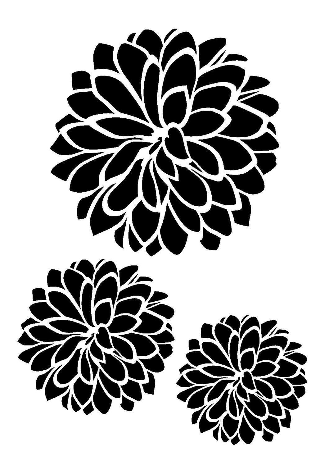 Comprehensive image throughout printable flowers stencils