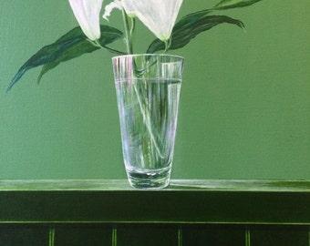 White Lilies by Simon Hopkins. Solo award winner of the art expo 2015
