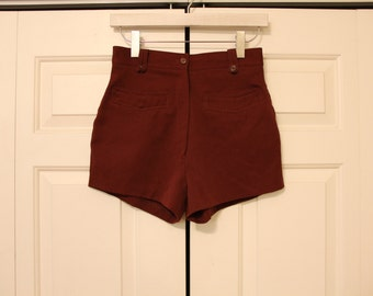 SALE Vintage Maroon High Rise Shorts