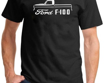 1967-72 Ford F-100 Pickup Truck Classic Outline Design Tshirt