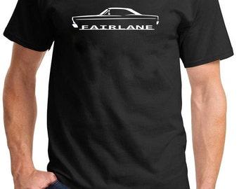 1966-67 Ford Fairlane Hardtop Classic Outline Design Tshirt