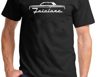1964-65 Ford Fairlane Hardtop Classic Outline Design Tshirt