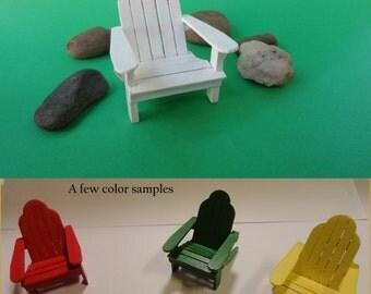 Adirondack Chair, miniature dollhouse furniture, 1/2 inch scale chair