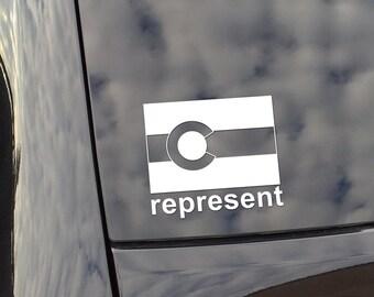 Colorado Represent Vinyl Decal