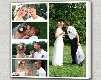 Canvas Photo Collage Gift Personalized Wedding Pictures Photo Collage Canvas Family Photo Collage/ Personalized Collage Art