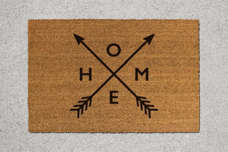 Home doormat home door mat home welcome mat by thedoormatory for Welcome home front door mats