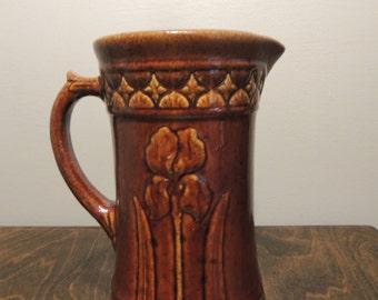 Vintage McCoy Brown Ceramic/Pottery/Stoneware Milk Pitcher/Jug