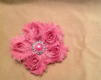Shabby rose hair clip