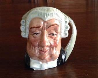 The Lawyer Miniature Toby Jug Royal Doulton England
