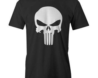 The Punisher CLASSIC SKULL Logo T-Shirt Plain Jane Frank Cas