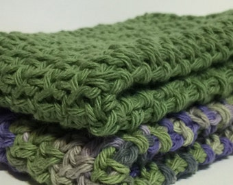 100% Cotton Washcloth Dishcloth Spa Yellow