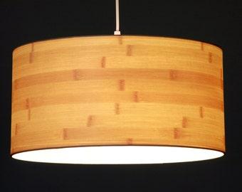 Lampshade Bamboo veneer, D.35 cm, H.21 cm, E27 holder