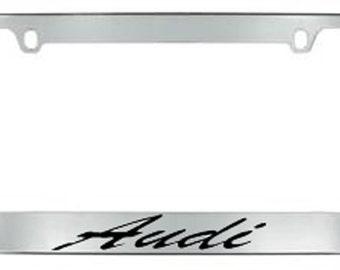 Audi Script License Plate Frame