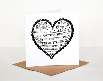 Personalise/Personalize Engagement Heart Card