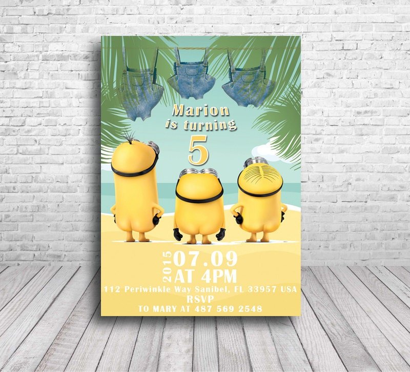 Resource image with minions printable invitations