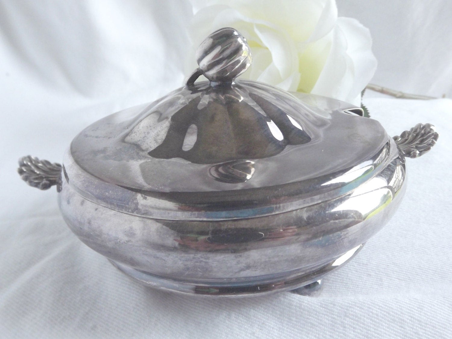 Vintage Silver Plated Butter Dish With Lid By