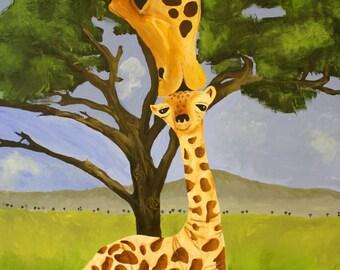 Giraffe Love PRINT