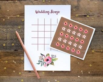 Floral Wedding Printed Bingo | 10 Pack | Made In Australia