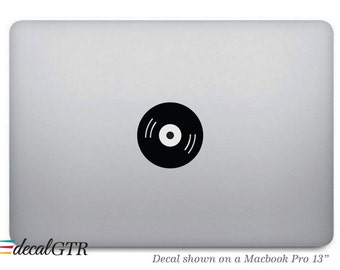 Music Record Sticker for Macbook - CD DVD Decal - Icon - Apple Laptop Notebook Macbook Air Pro - Removable - T002