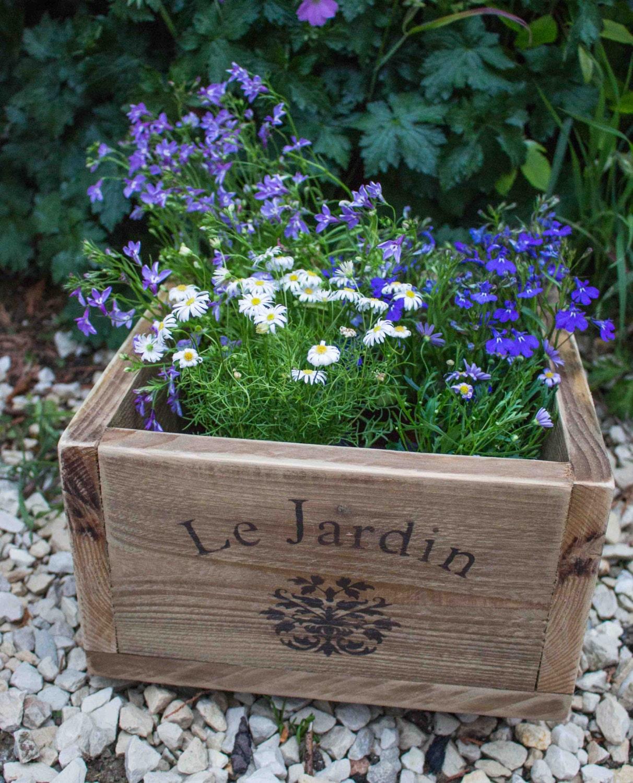 Wooden Planter Ideas: Vintage Style Planter Wooden Planter Patio Planter Outdoor