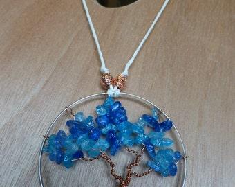 Tree of Life Rearview Pendant - Glacier Blue_1