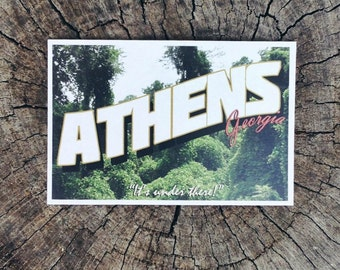 """Athens, Georgia """"It's Under There!"""" // Postcard"""