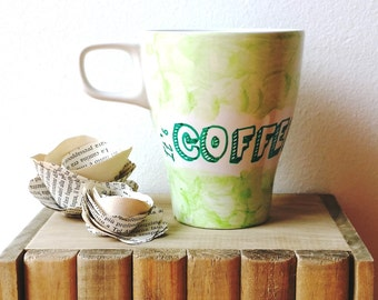 """Cup """"It's coffee time""""-hand painted"""