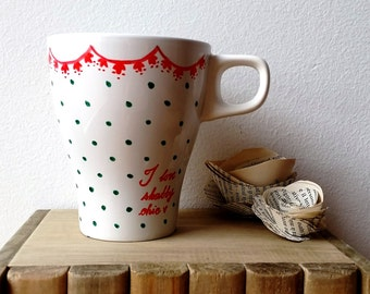 "Cup ""Shabby love!""-hand painted"