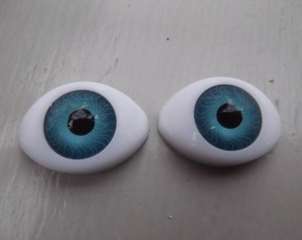 18mm SOE Oval Blue Acrylic Doll Eyes