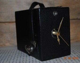 Upcycled Box camera clock,