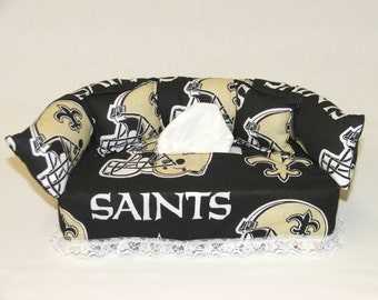 New Orleans Saints NFL Licensed fabric tissue box cover.