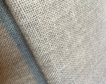 1 yard of 64 inch wide, Primitive natural, Hairless rug hooking Linen, 1 yard