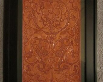 Handmade Leather Tooled Artwork