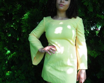 Vintage yellow mod mini dress/tunic