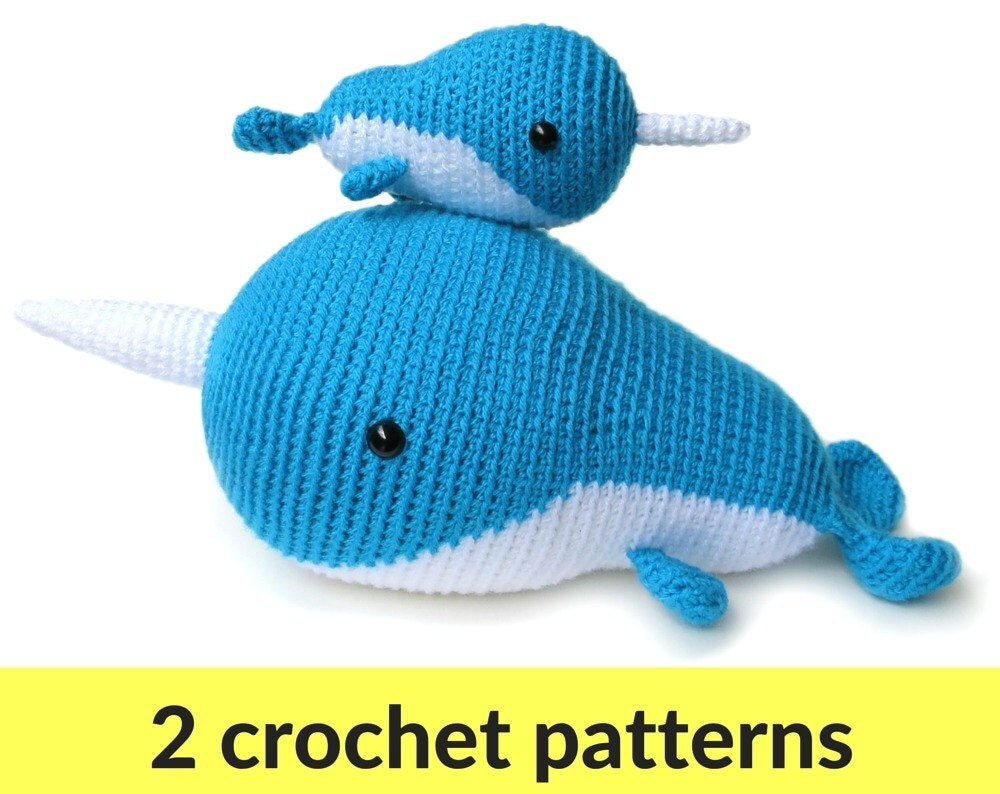 Amigurumi Narwhal : Narwhal crochet patterns two amigurumi patterns narwhal