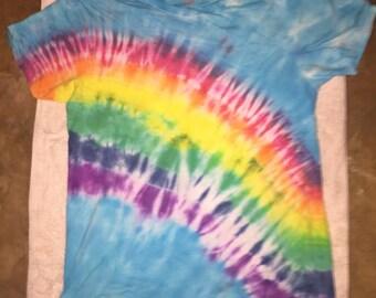 Rainbow Design Tie Dye T-shirt