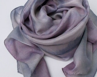 Handmade Silk Scarf - ASTER