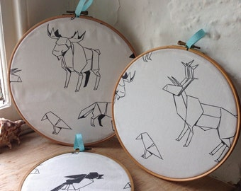 Wild Beasts embroidery Hoop